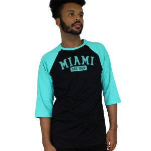 Raglan Profootball Miami Preto/Verde