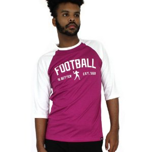 Raglan Profootball Football is Better Roxa/Off-White