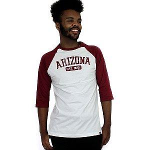 Raglan Profootball Arizona Branco/Vinho