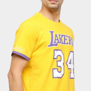 Camiseta Los Angeles Lakers Oneal Micthell and Ness