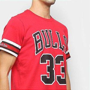 Camiseta NBA Chicago Bulls 33 Scottie Pippen Mitchell and Ness