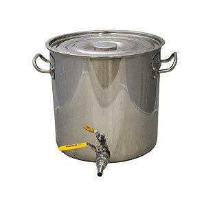 Panela em Inox para Fabricação de Cerveja - 20 Litros