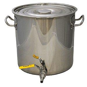 Panela em Inox para Fabricação de Cerveja - 48 Litros