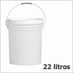 Balde Plástico Alimentício - 22 Litros