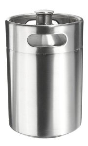 Growler Inox 5 Litros Mini Keg
