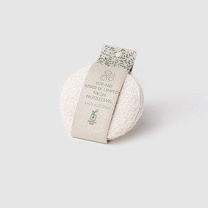 Eco Pads | Discos de Algodão Reutilizáveis para Limpeza Facial | Cru