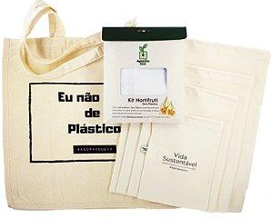 kit Compra Sem Plástico | EcoBag + A Granel + Hortifruti