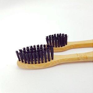 Kit 2 Escovas de Dente de Bambu | 1x Infantil e 1x Adulto
