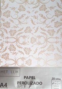Papel perolado A4 Arabesco 1 Bronze