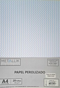 Papel perolado A4 Mini Chevron Azul
