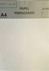 Papel perolado A4 Renda 1 Branco