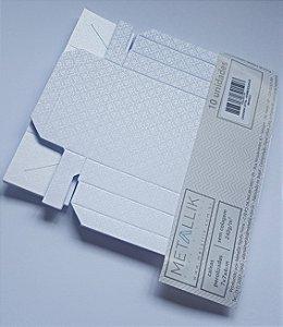 Caixa quadrada (7x7x4) Arabesquinho Branco