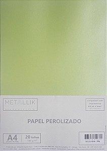 Papel perolado A4 Liso Verde