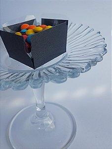Forminha para Doce (3,5 x 3,5) Liso (colorido na massa) Ônix