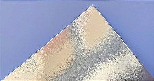 Papel Laminado A4 Liso Prata 250g