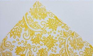 Papel perolado A4 Arabesco 3 Amarelo