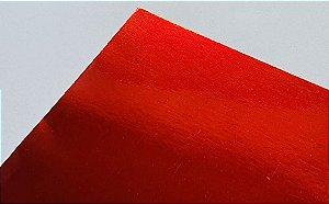 Papel Laminado A4 Liso Vermelho 250g