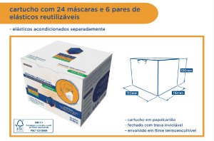 Mascara Facial Paper Front - cartucho com 24 unidades