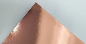 Papel Laminado A4 Liso Rosé Gold 250g