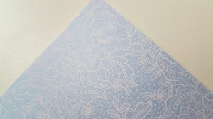 Papel A4 perolado Renda 1 Azul - 120g
