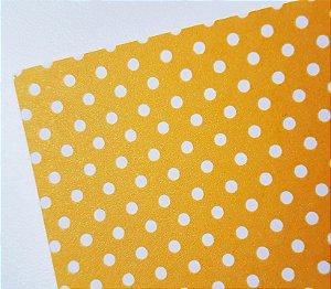 Papel A4 perolado Bolinha Amarelo - 180g
