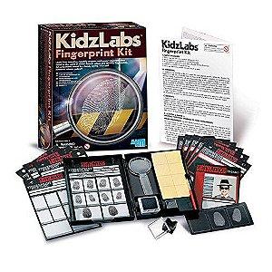 Brinquedo Detetive - Kit de impressões Digitais KidzLabs da 4M