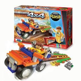 Super carrinho 4x4 vem com boneco - Rasti Super