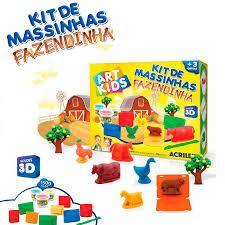Kit de massinhas - Fazendinha - ArtKids - Acrilex