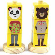 Cubos de madeira - Animais - NewArt