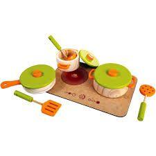 Kit de Panelas e Cooktop de Brinquedo