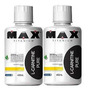 Combo 2x L Carnitina Pure 400ml - Max Titanium