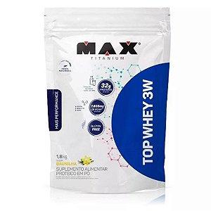 Top Whey 3w Mais Performance 1.8kg Refil Max Titanium