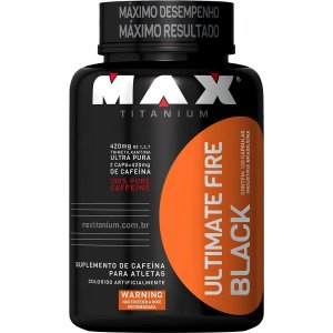 Termogênico Ultimate Fire Black 120 Cáps - Max Titanium vc 12/2019