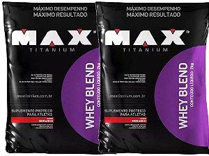 2x Whey Protein Blend 2kg Max Titanium