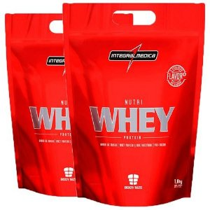 Kit 2x Nutri Whey Protein 3,6kg - Integralmédica