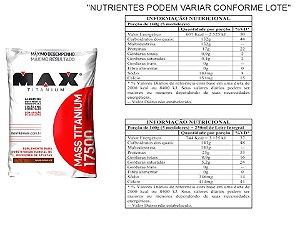 Combo 3x Hipercalórico Mass Titanium 17500 3kg Max Titanium + Coqueteleira