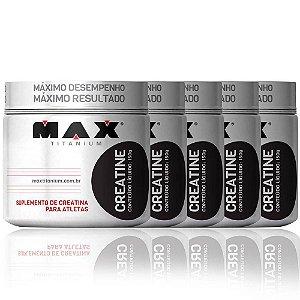 Combo 6x Creatina (150g) - Max Titanium (900g Total)