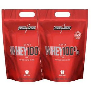 2x Super Whey 100% Pure 1,8kg  - Integralmedica