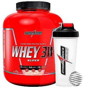 Super Whey 3w 1,8kg com Coqueteleira - Integralmédica