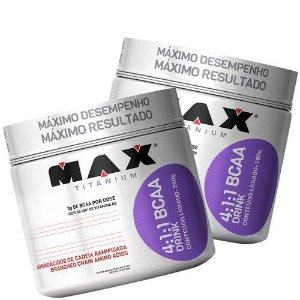 2 X Bcaa Drink 4:1:1 Pó Max Titanium 280g VC 05/2020 E 07/2020
