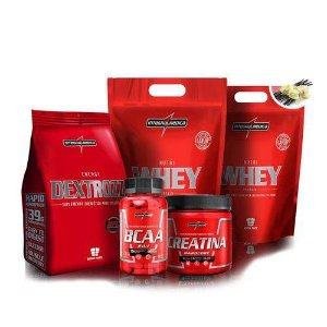 Kit Integralmedica 2x Whey 900g + Bcaa + Creatina + Dextrozz