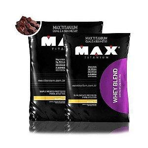 Combo Whey Blend 2kg Max Titanium