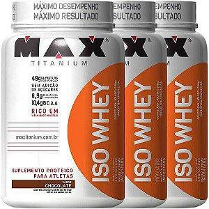 3x Iso Whey Protein 900g - Max Titanium