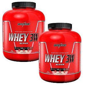 Combo 2x Whey Protein 3w Super 1800g - Concentrado Hidrolisado