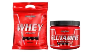 Kit Nutri Whey Protein + Glutamine 300g - IntegralMédica