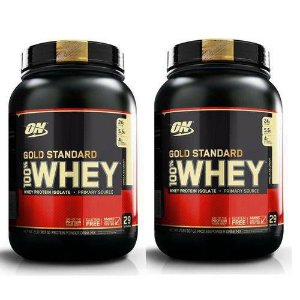 Kit 2X Whey Gold Standard 907GR (1.8KG) - Optimum Nutrition