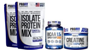 Kit 2x Whey 900g Chocolate + Bcaa + Creatina - Profit