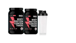Kit 2x Whey Protein Concentrado 900g + Shaker - Dux