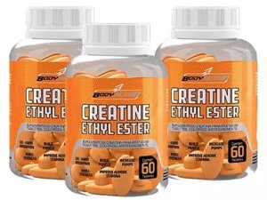 3x Creatina Ethyl Ester - 60 Comprimidos - Body Action