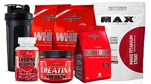 2x Whey 900g+ Thermo abdomen+Creatina+Dextrozz+ Massa+Shaker